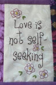 Love not self seeking web