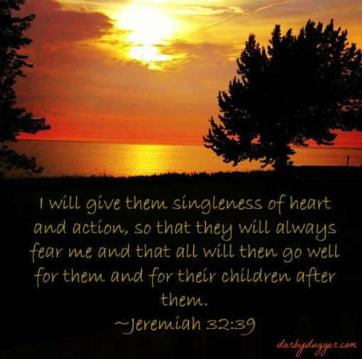 Jeremiah 32:39, Unity in marriage , photo credit: Sarah Boyer