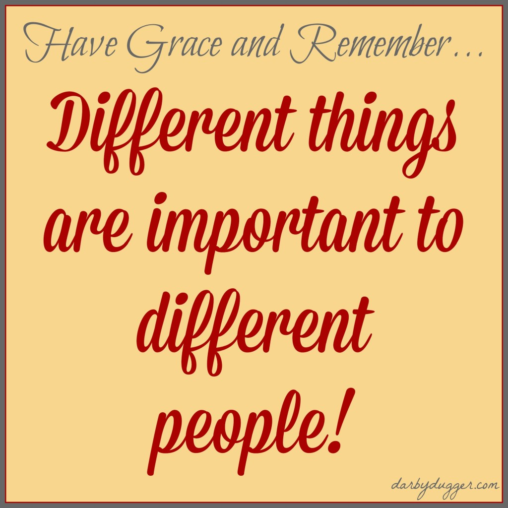 Different things are important to different people.
