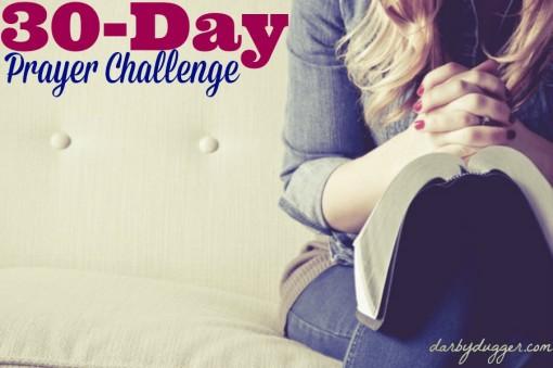 30-Day Prayer Challenge by darbydugger.com